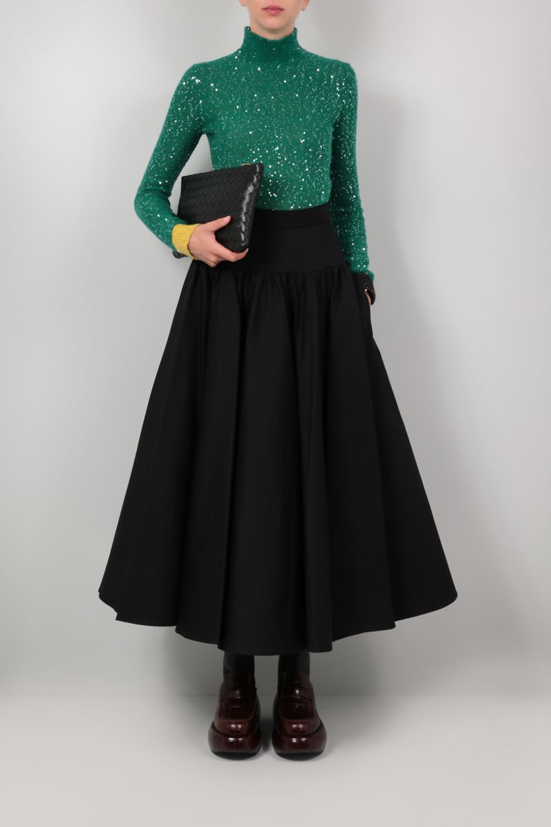 LOEWE: sequinned mohair blend pullover Color Green_2