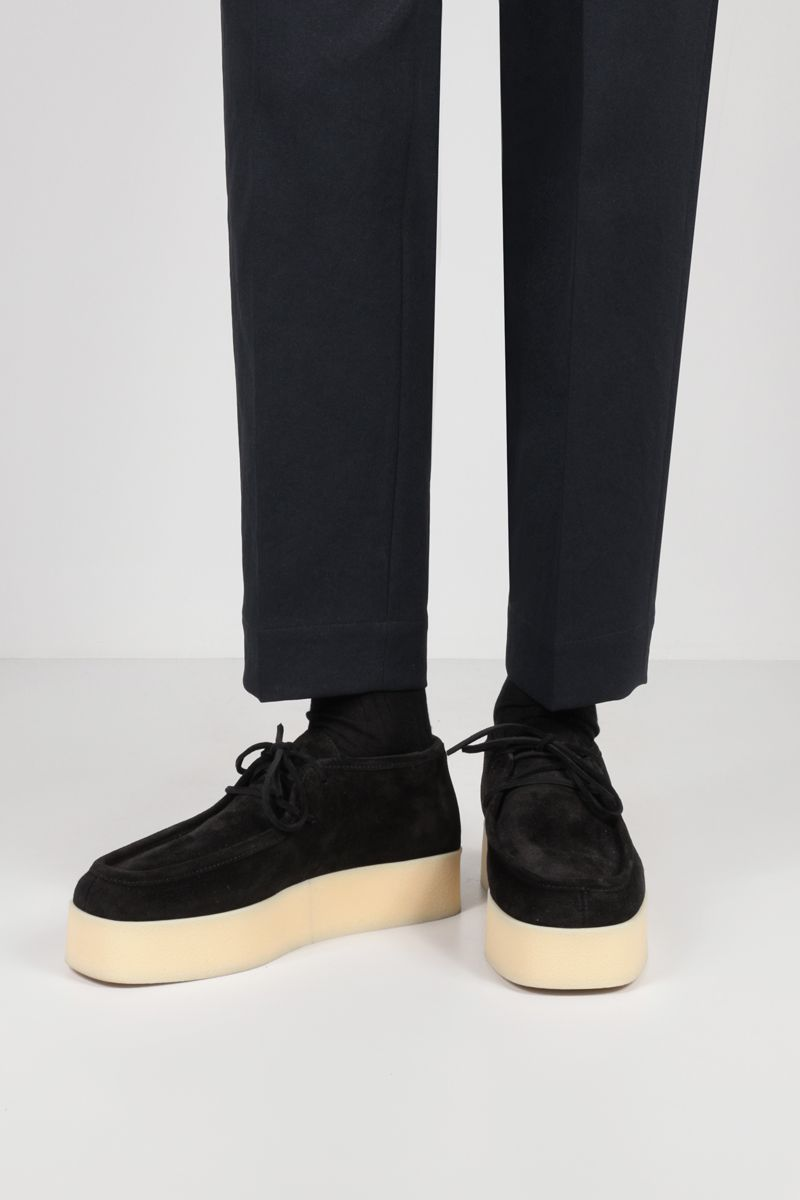 LOEWE: Anagram logo-detailed suede lace-up shoes Color Black_2