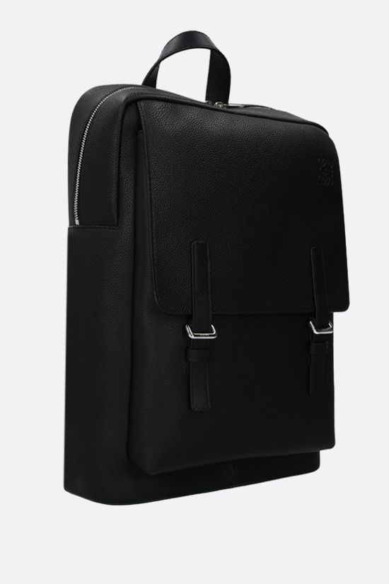 LOEWE: Military grainy leather backpack Color Black_2