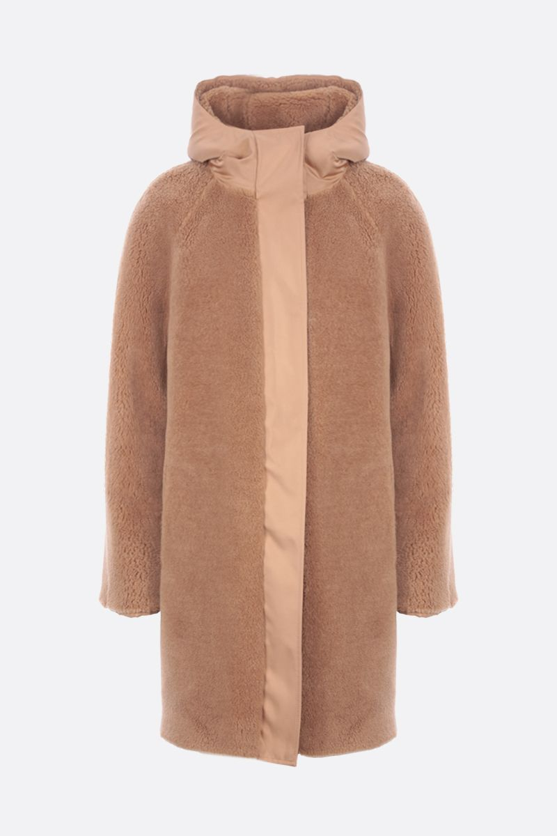 LORO PIANA: Conway reversible coat in Cashfur and silk blend Color Neutral_2