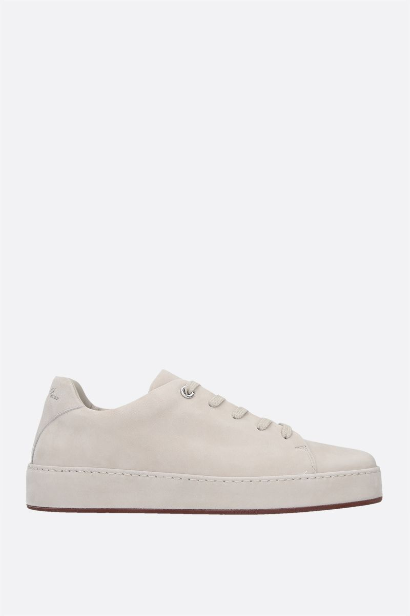 LORO PIANA: Nuages suede sneakers Color Neutral_1