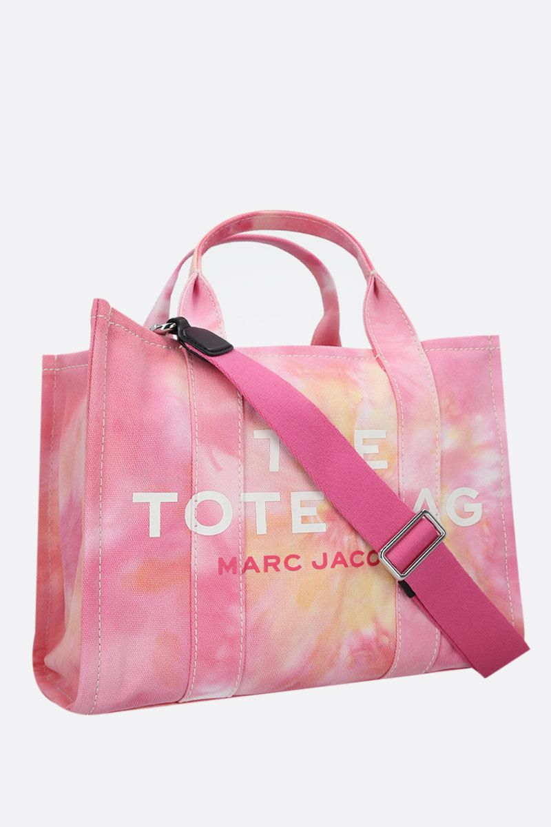 MARC JACOBS: The Tie Dye small canvas tote bag Color Pink_2