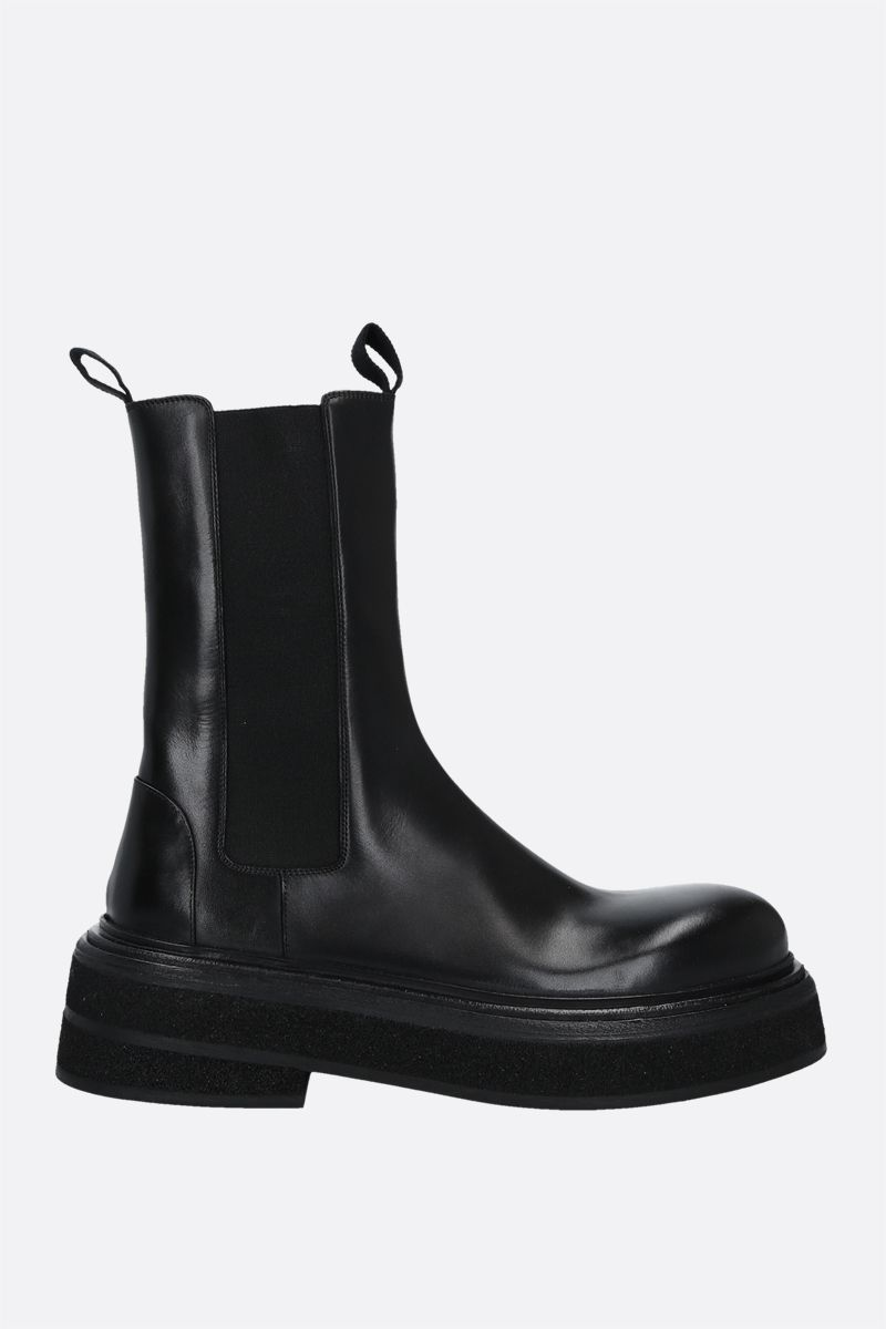 MARSELL: Zuccone shiny leather boots Color Black_1