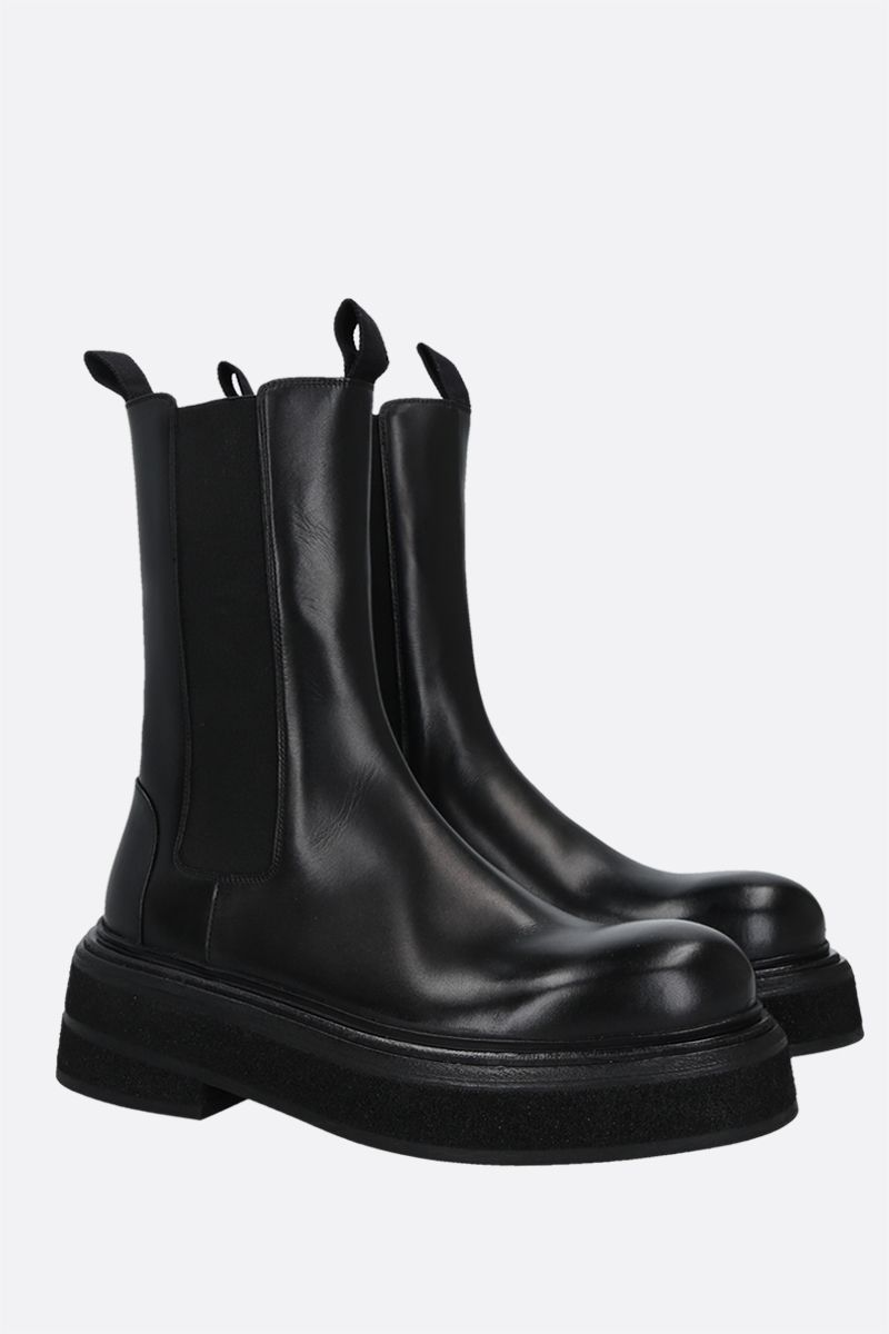 MARSELL: Zuccone shiny leather boots Color Black_2