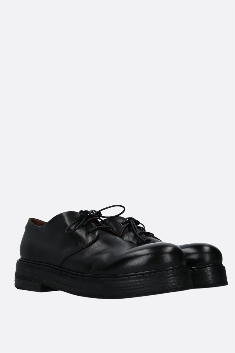 MARSELL: Zuccolona shiny leather derby shoes Color Black_2