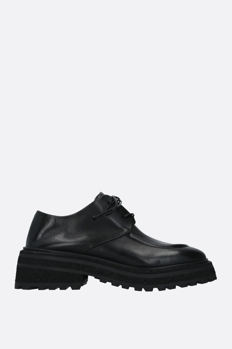 MARSELL: Carro smooth leather derby shoes Color Black_1