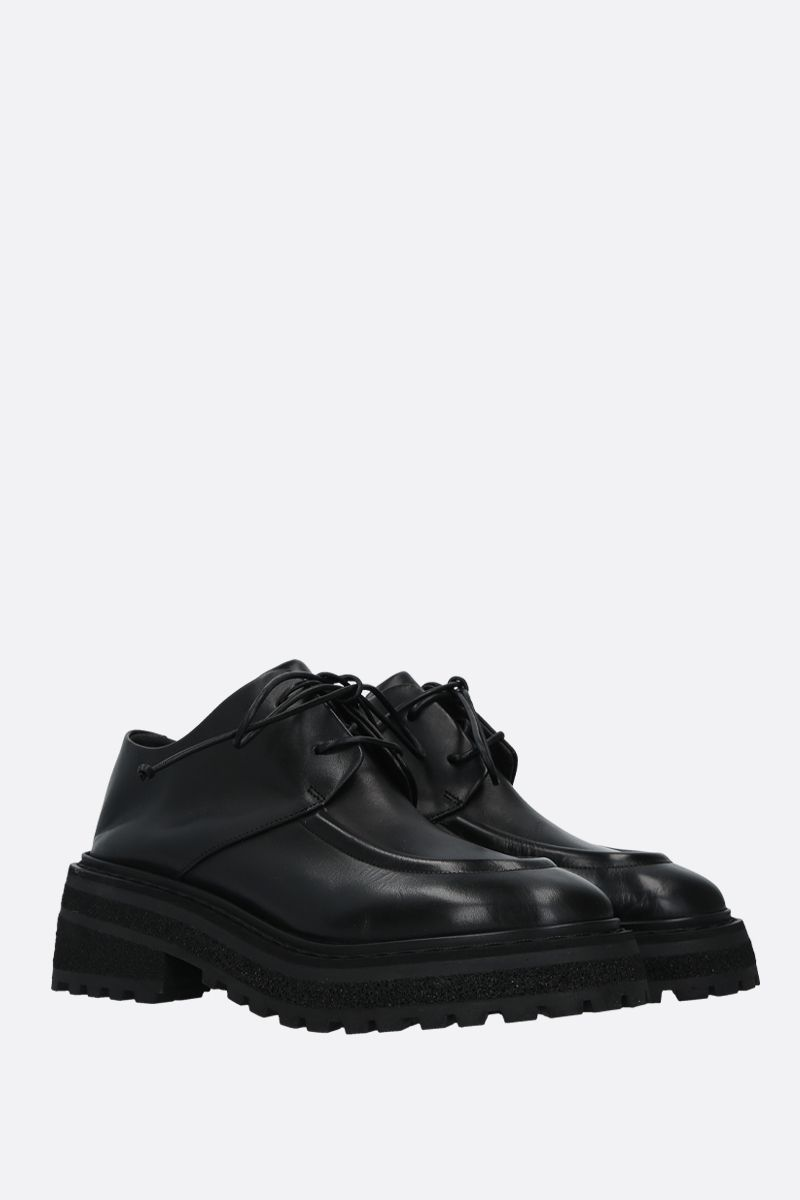 MARSELL: Carro smooth leather derby shoes Color Black_2
