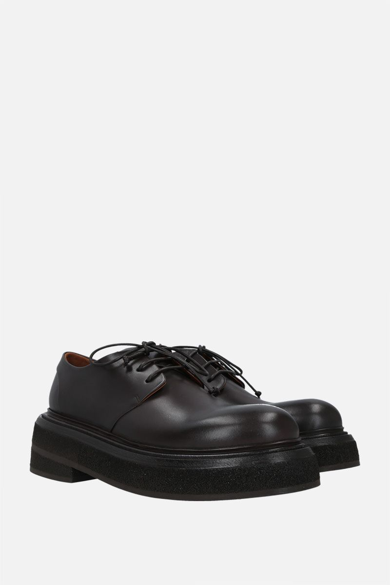 MARSELL: Zuccone shiny leather derby shoes Color Brown_2