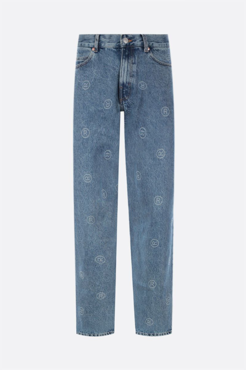 MARTINE ROSE: jeans relaxed-fit stampa ® Colore Blue_1