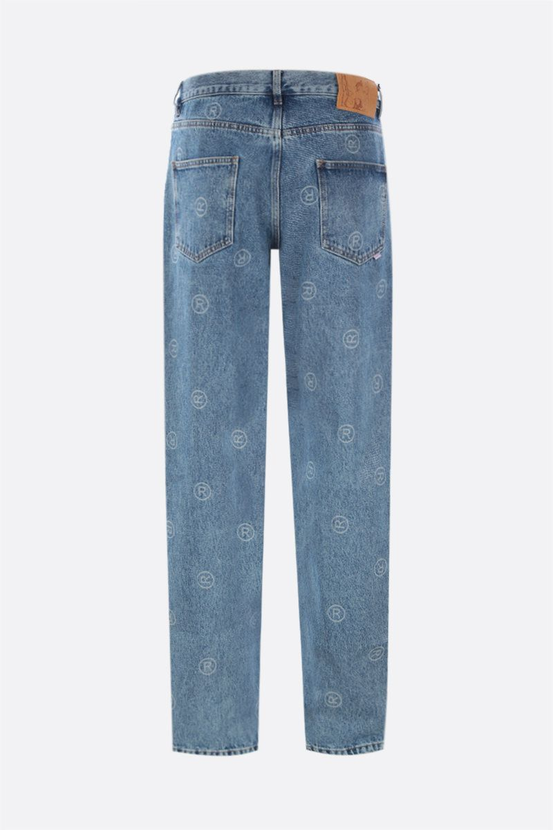 MARTINE ROSE: jeans relaxed-fit stampa ® Colore Blue_2
