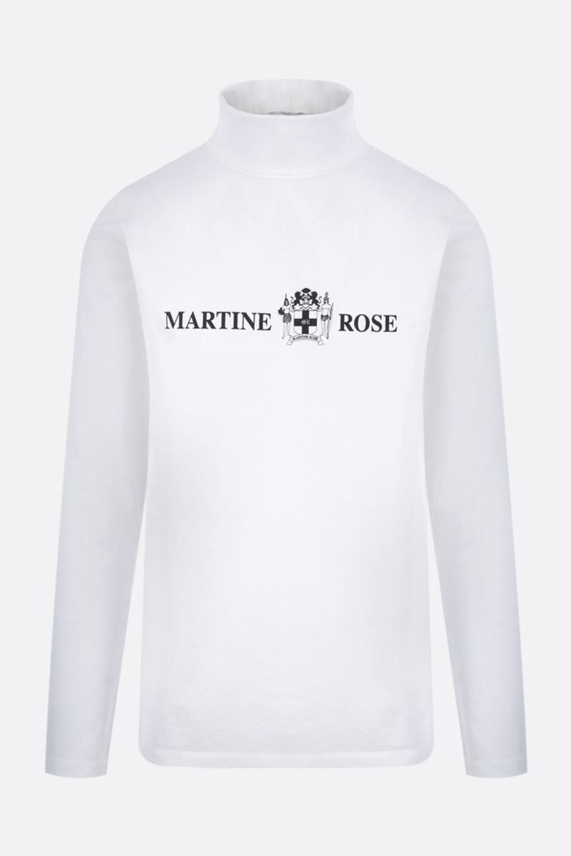 MARTINE ROSE: Quiet Riot long-sleeved cotton t-shirt Color White_1