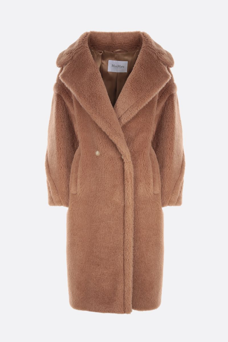 MAX MARA: Teddy camel double-breasted coat Color Brown_1