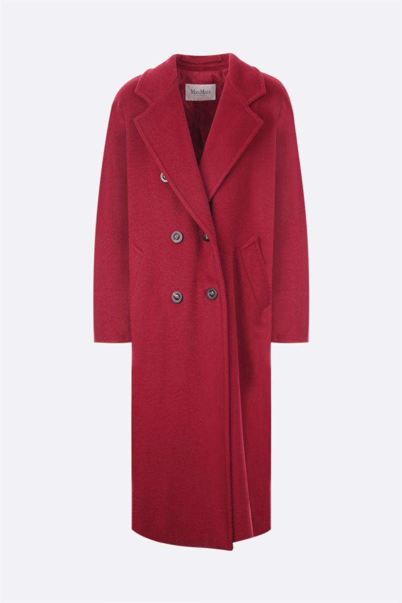 MAX MARA: 3Madame double-breasted cashmere wool blend coat Color Red_1