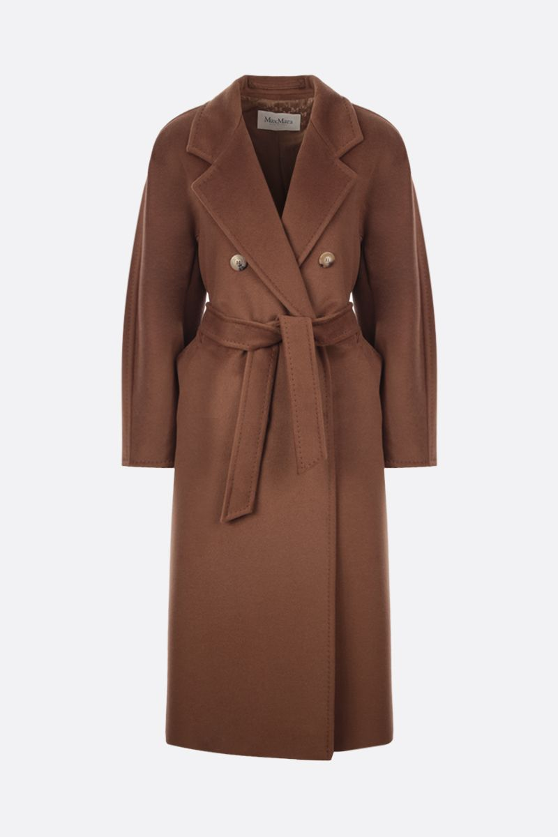 MAX MARA: 3Madame double-breasted cashmere wool blend coat Color Brown_1