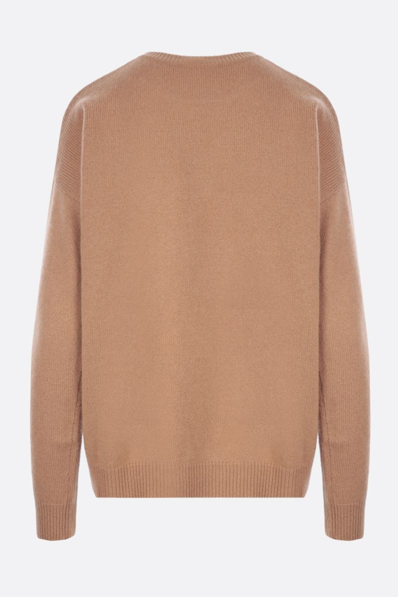 MAX MARA: Giostra cashmere wool blend pullover Color Brown_2