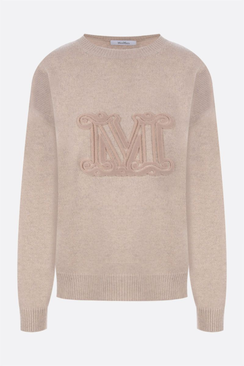 MAX MARA: Giostra cashmere wool blend pullover Color Neutral_1