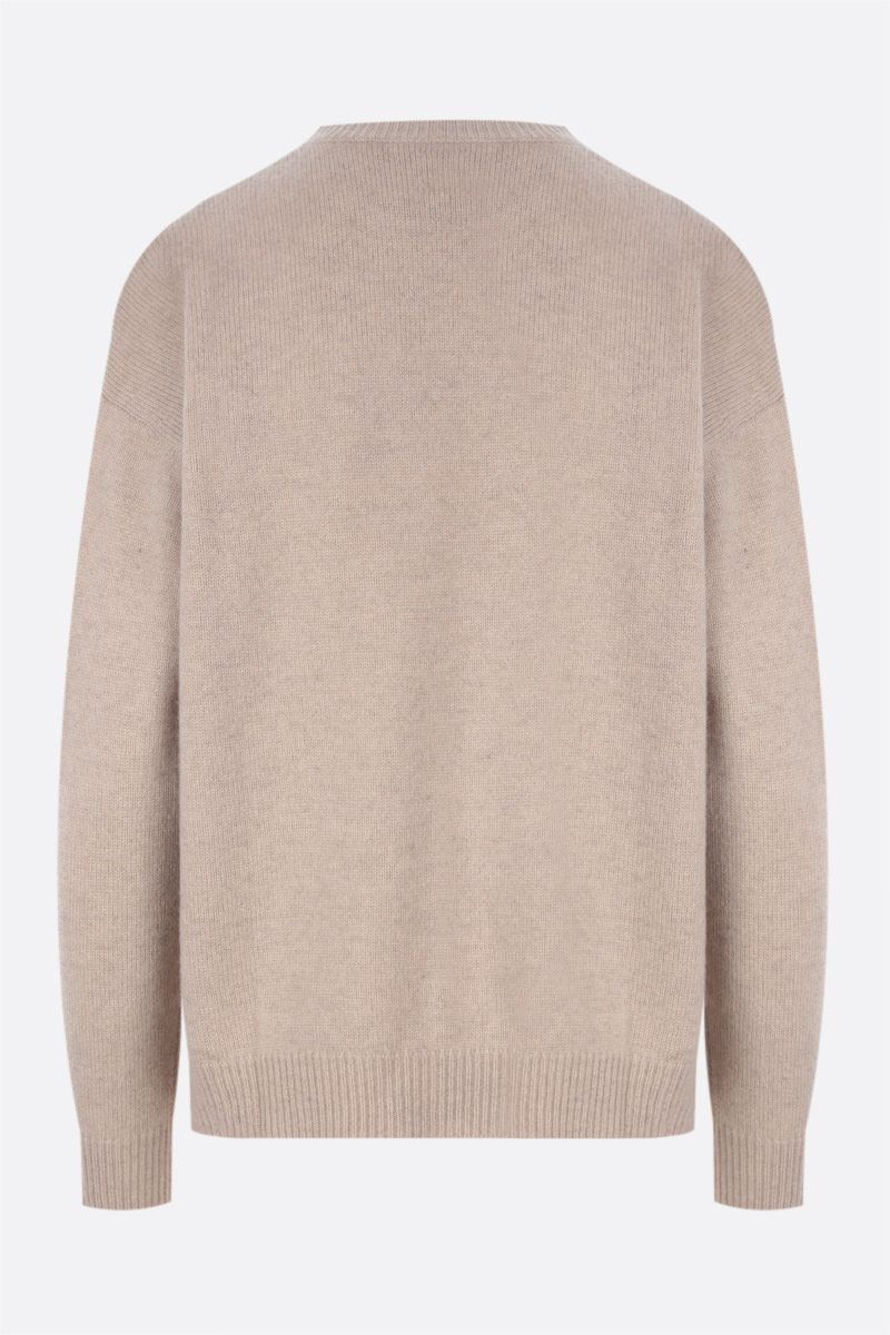 MAX MARA: Giostra cashmere wool blend pullover Color Neutral_2