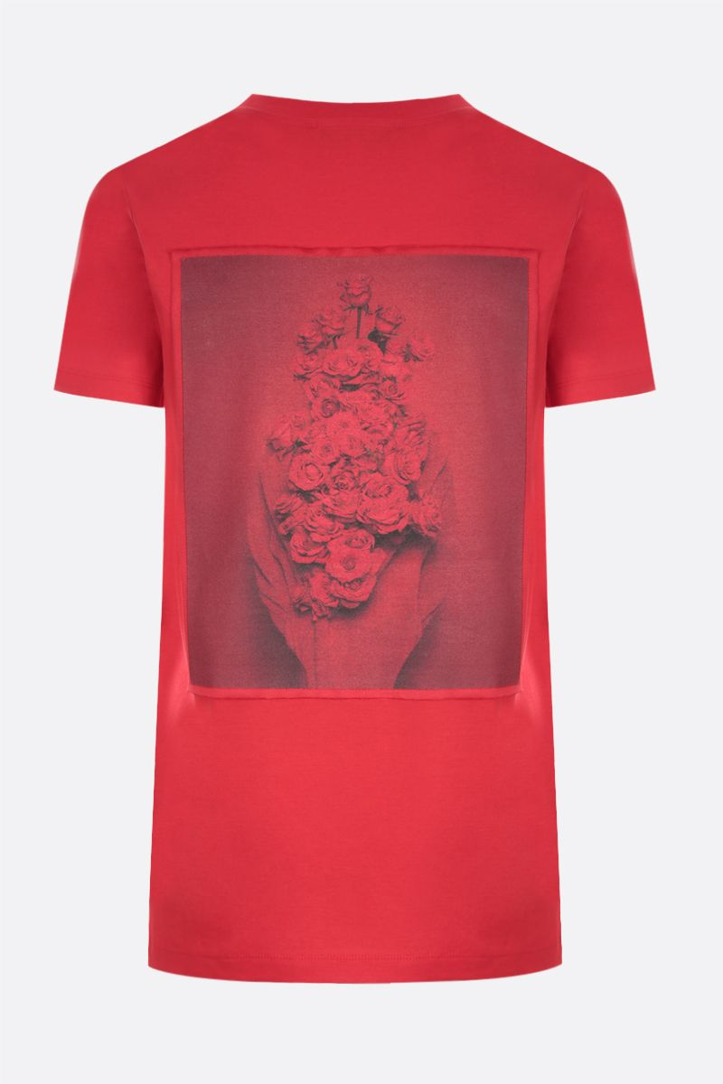 MAX MARA: Rosso cotton t-shirt Color Red_2