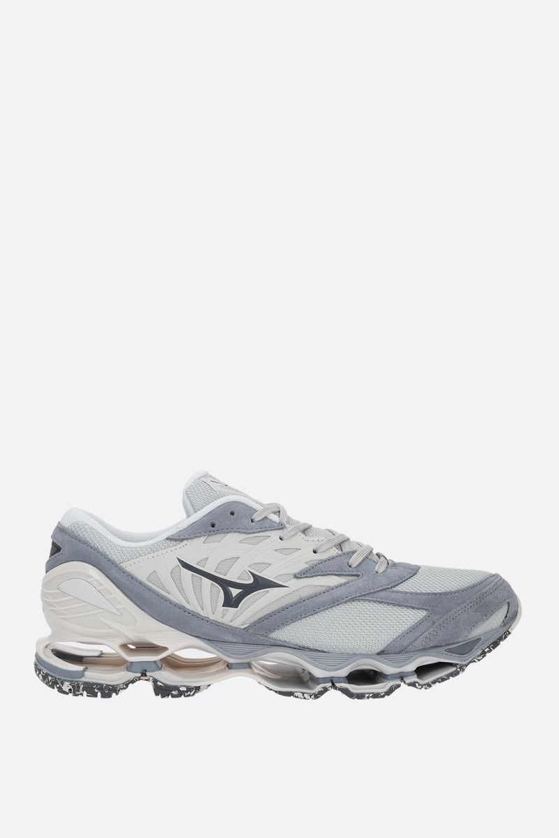 MIZUNO: Wave Prophecy LS mesh and suede sneakers_1
