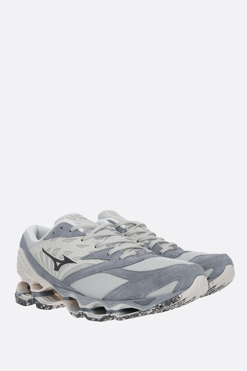 MIZUNO: Wave Prophecy LS mesh and suede sneakers_2