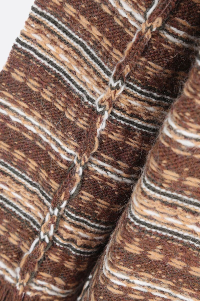 MM6: pullover oversize Reversed in misto lana Colore Brown_4