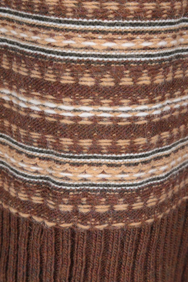 MM6: pullover oversize Reversed in misto lana Colore Brown_5