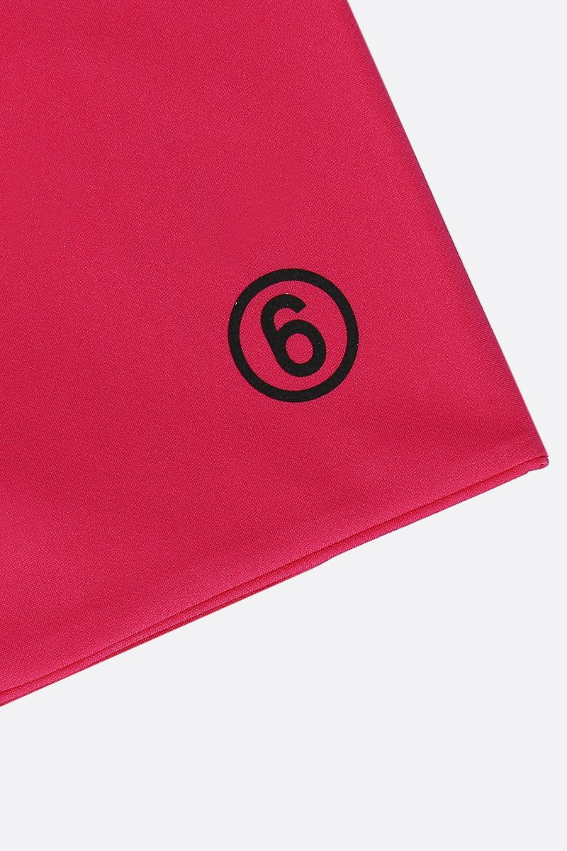 MM6: scaldacollo in jersey con logo 6 Colore Pink_3