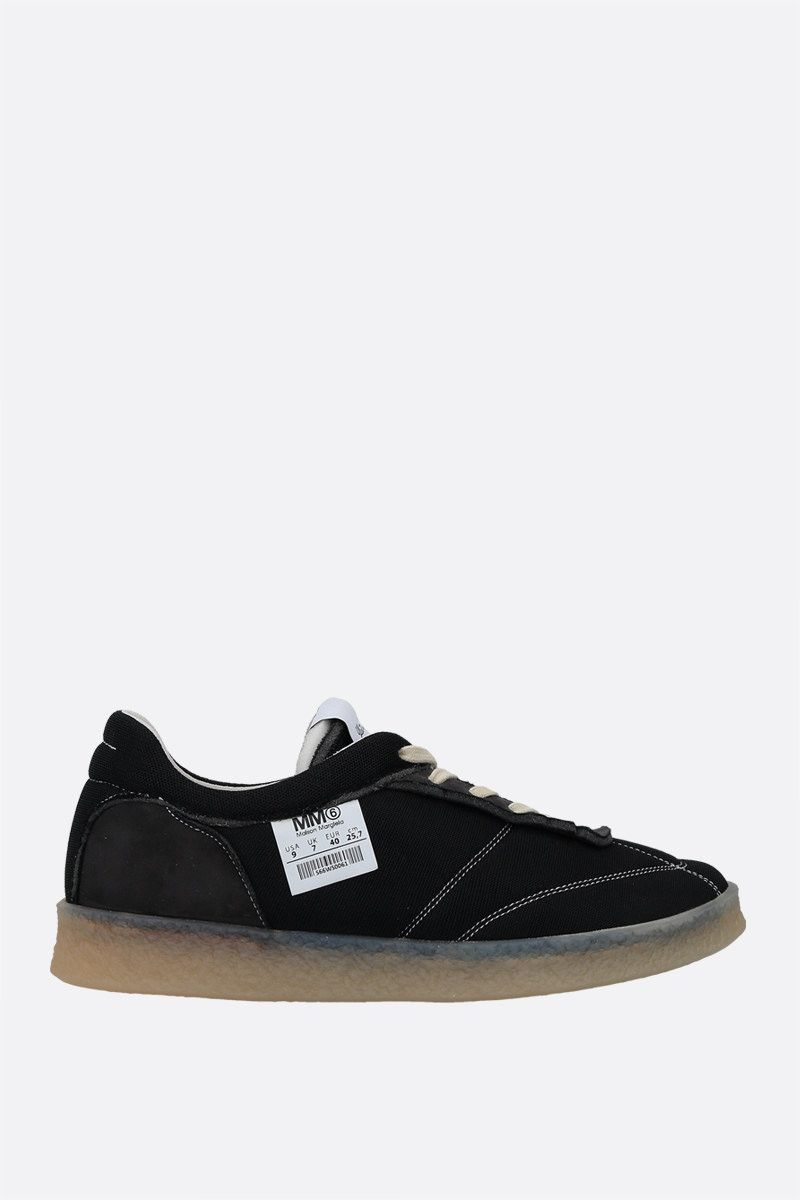 MM6: sneaker 6 Court Inside-Out in mesh Colore Black_1