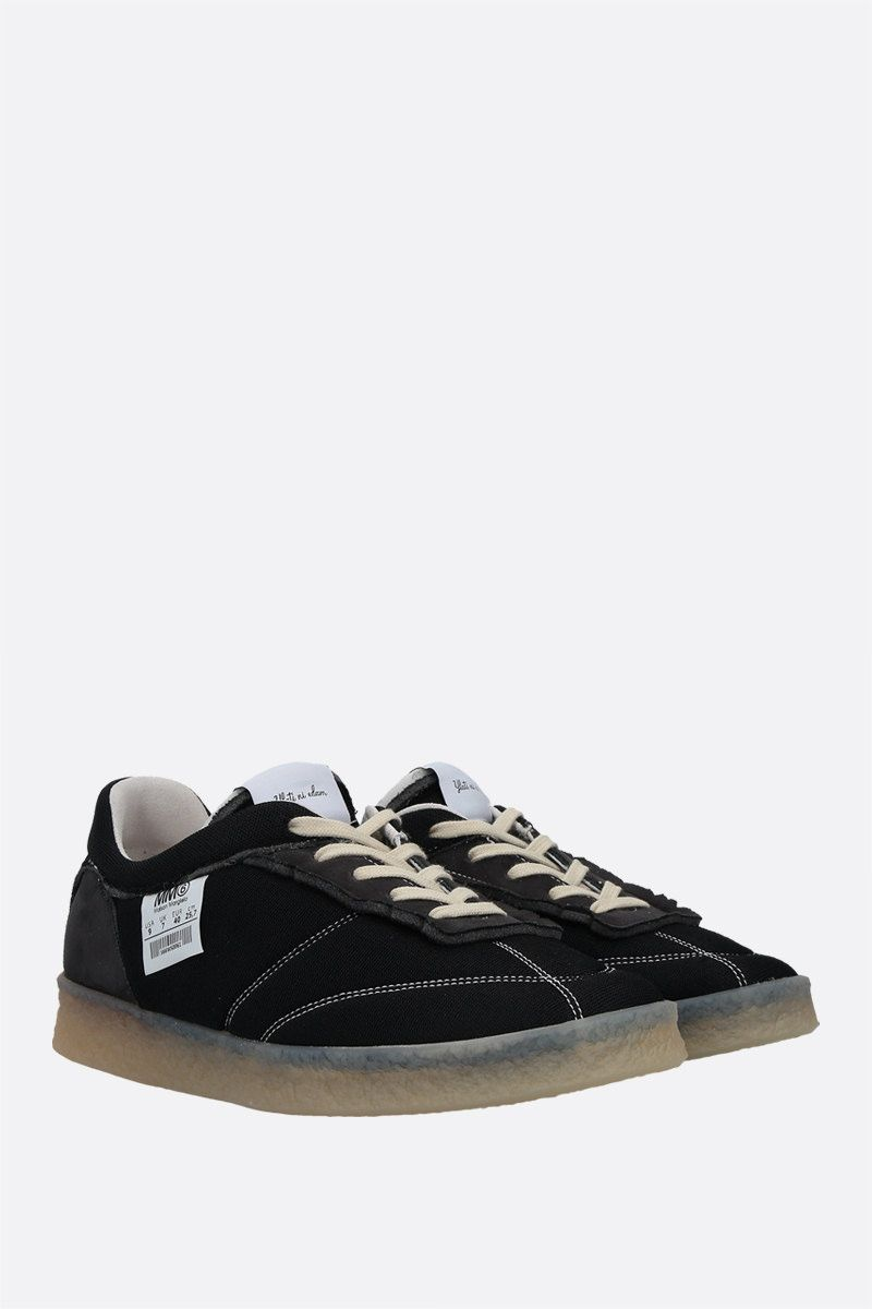 MM6: sneaker 6 Court Inside-Out in mesh Colore Black_2