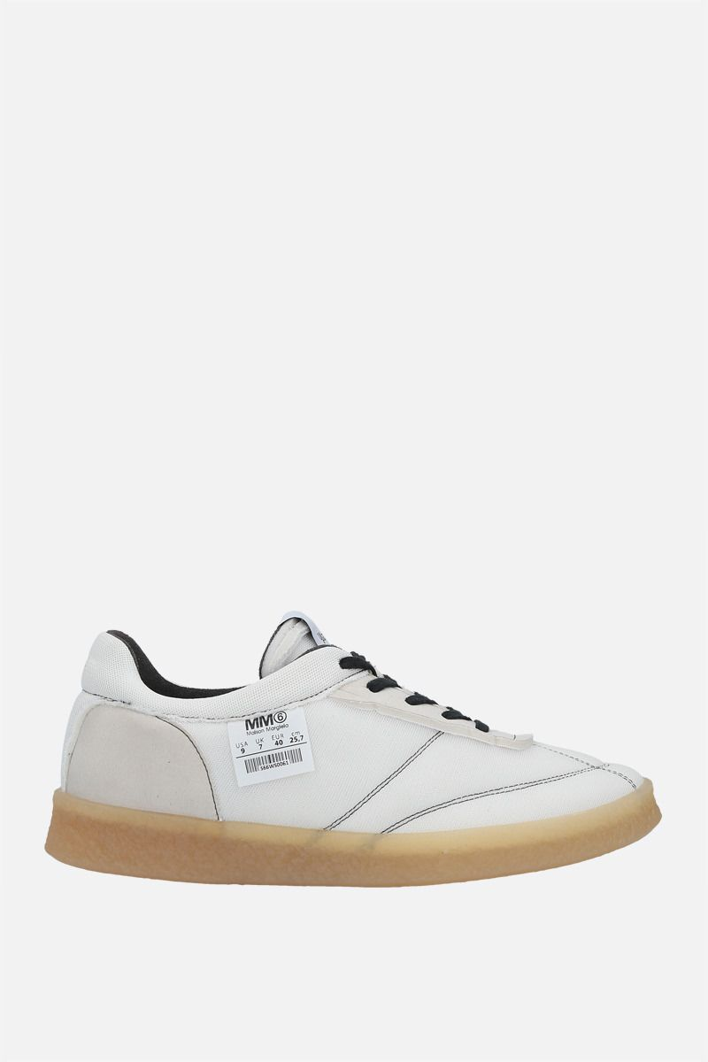 MM6: sneaker 6 Court Inside-Out in mesh Colore White_1