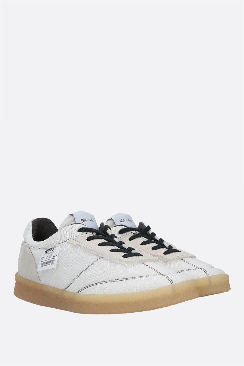 MM6: sneaker 6 Court Inside-Out in mesh Colore White_2