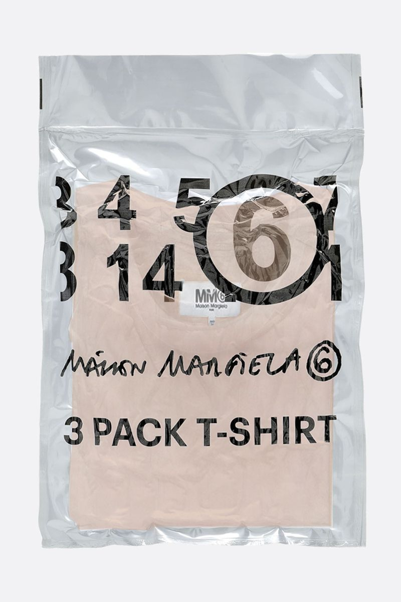 MM6: pack 3 t-shirt in jersey di cotone Colore Neutral_7