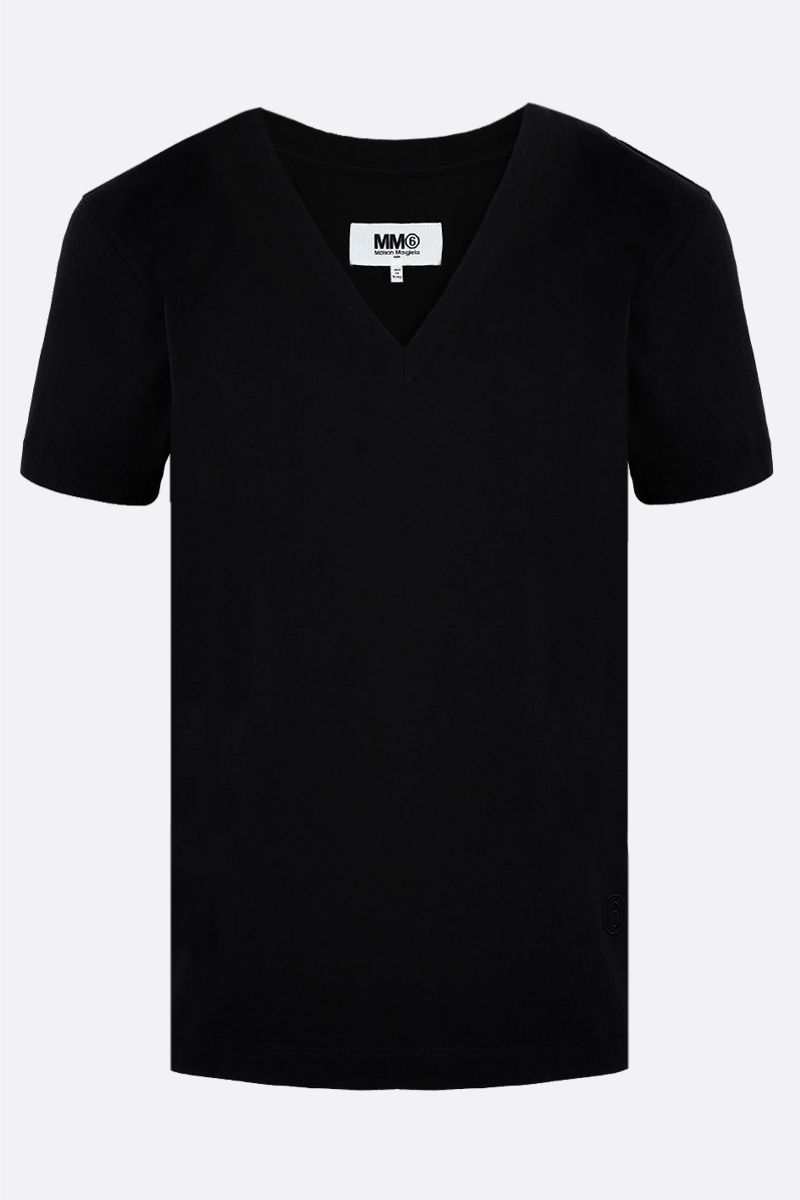 MM6: pack 3 t-shirt in jersey di cotone Colore Black_2