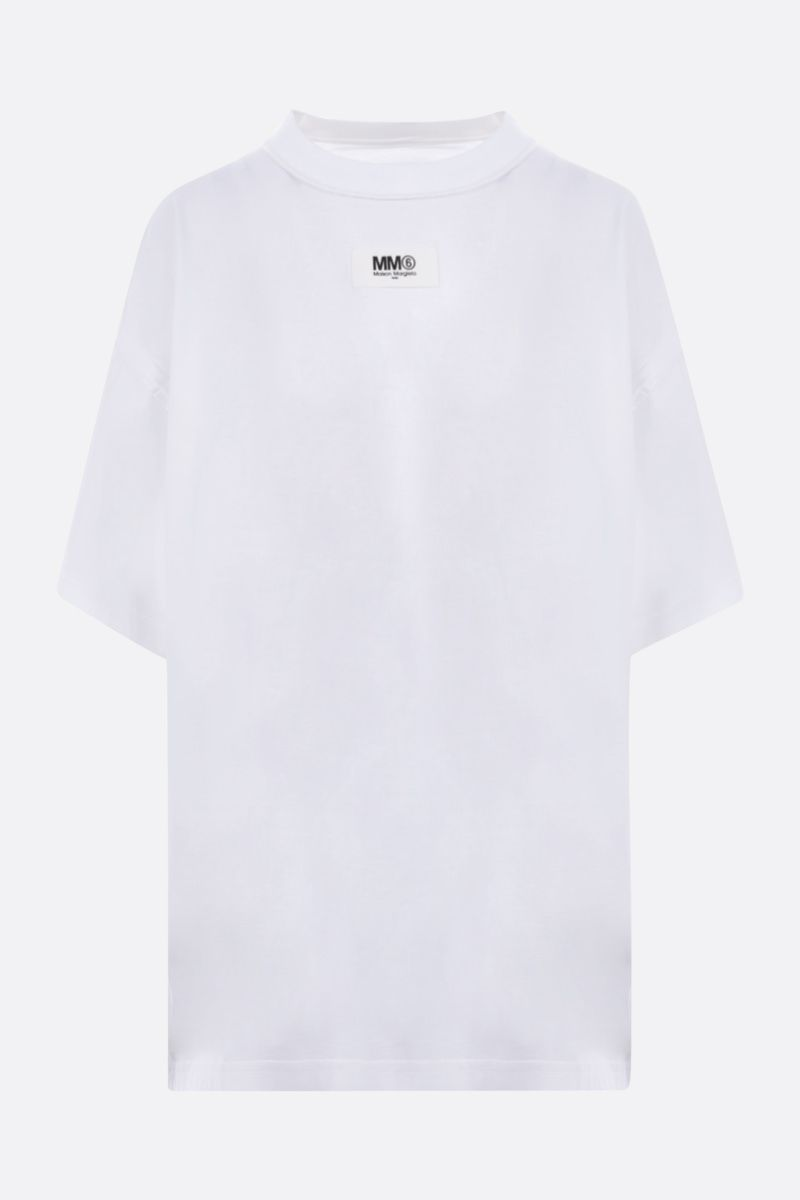 MM6: t-shirt oversize Reversed in cotone Colore White_1