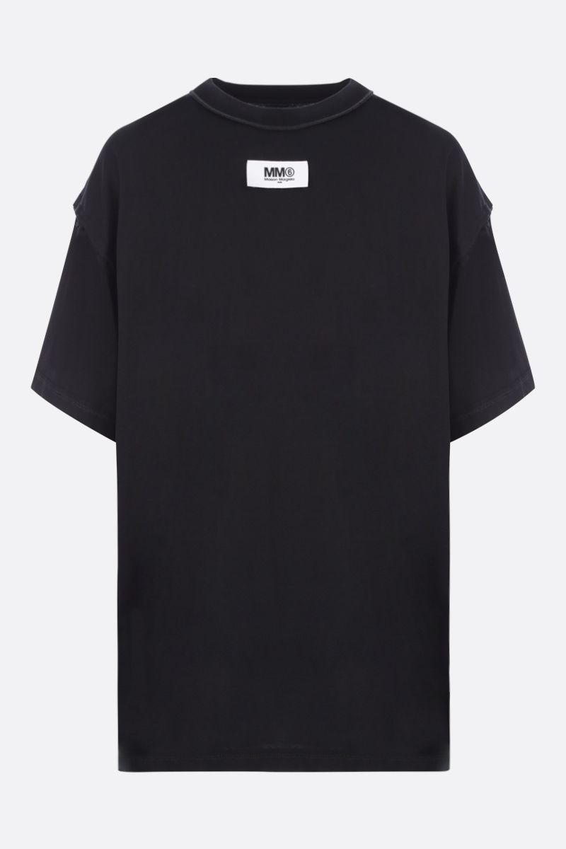 MM6: t-shirt oversize Reversed in cotone Colore Black_1