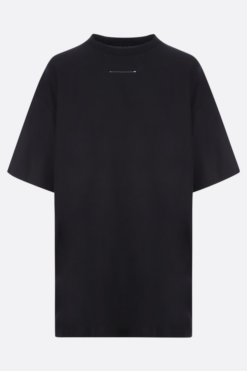 MM6: t-shirt oversize Reversed in cotone Colore Black_2