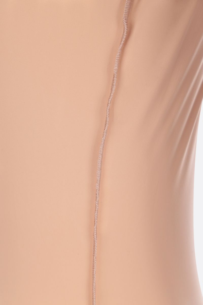 MM6: body Reversed in jersey di lycra Colore Neutral_4