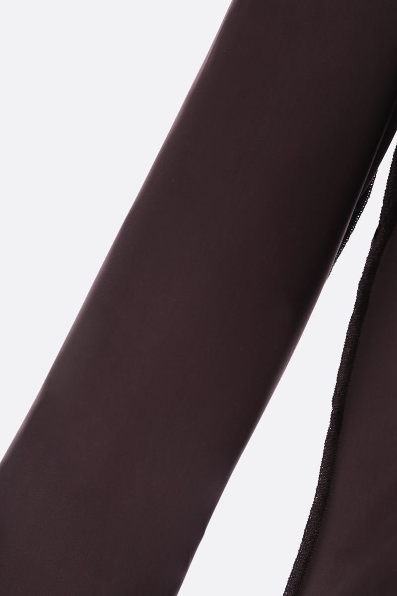 MM6: body Reversed in jersey di lycra Colore Brown_3