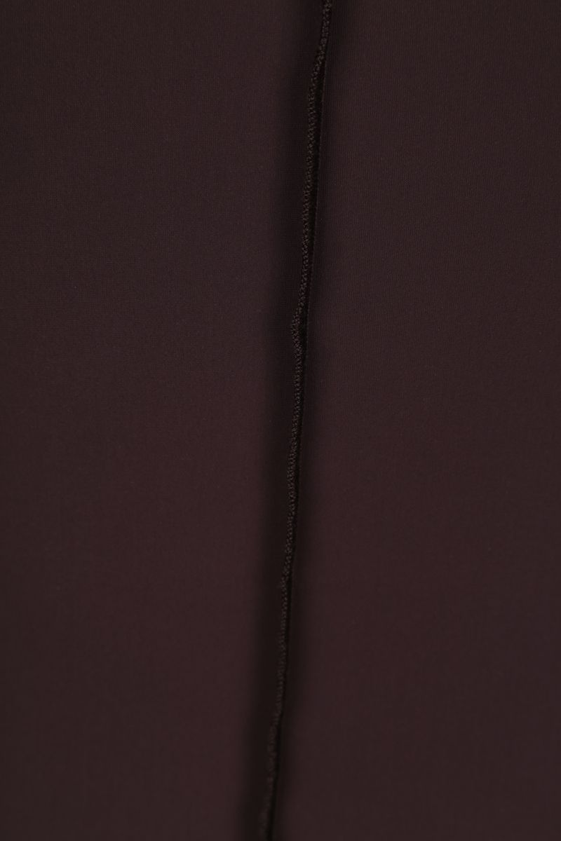 MM6: body Reversed in jersey di lycra Colore Brown_4