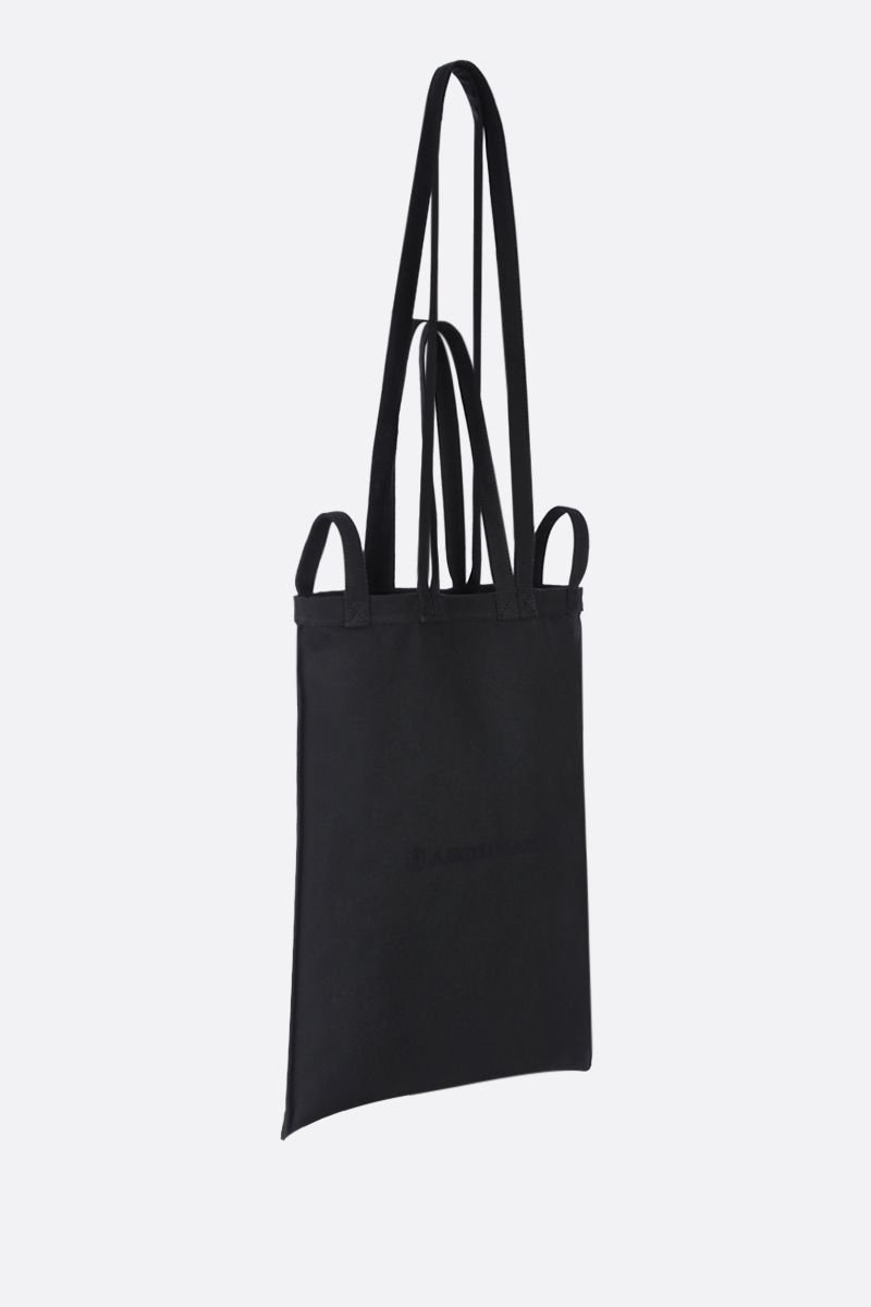 MM6: borsa shopping in canvas stampa logo Colore Black_2