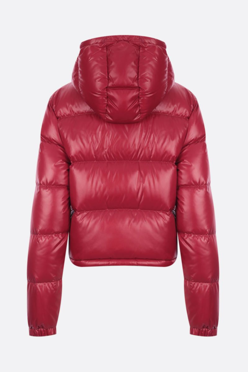 MONCLER: piumino cropped Bardanette in nylon Colore Red_2