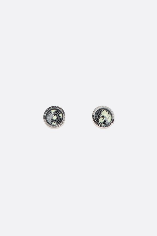 MONTBLANC: Geo steel cufflinks Color Black_1
