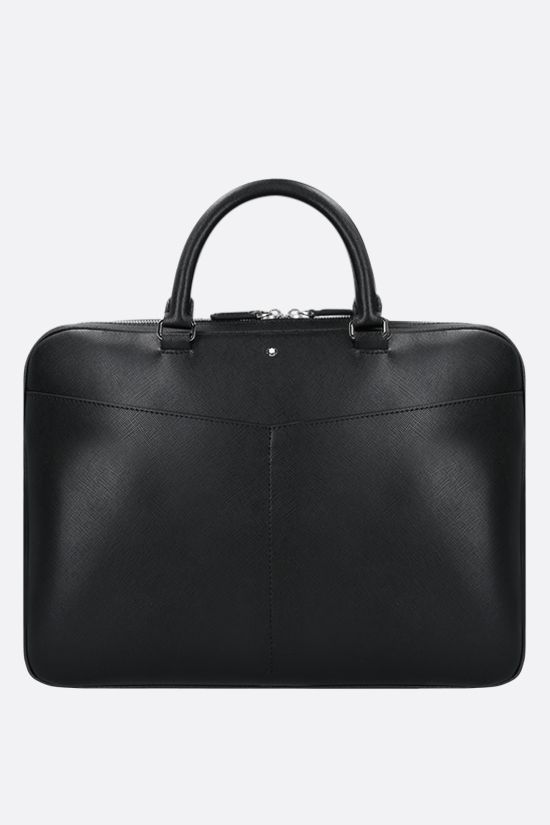 MONTBLANC: Montblanc Sartorial small textured leather business bag Color Black_1