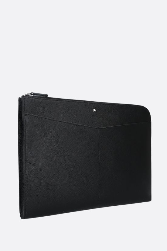 MONTBLANC: Montblanc Sartorial textured leather clutch Color Black_2