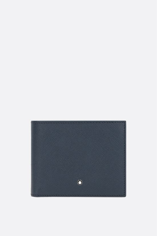 MONTBLANC: Montlanc Sartorial textured leather billfold wallet Color Blue_1