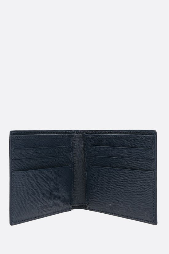 MONTBLANC: Montlanc Sartorial textured leather billfold wallet Color Blue_2