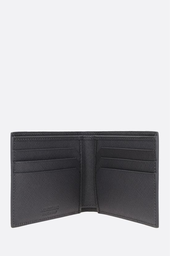 MONTBLANC: Montlanc Sartorial textured leather billfold wallet Color Grey_2