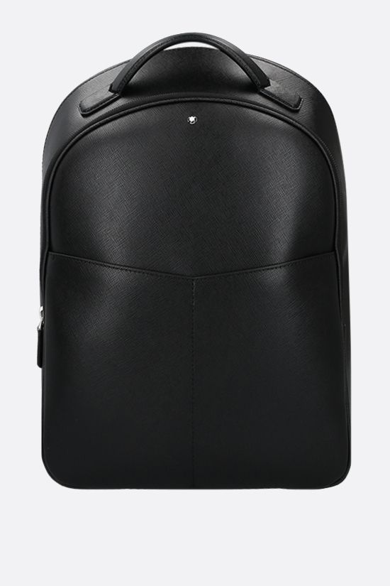 MONTBLANC: Montblanc Sartorial small textured leather backpack Color Black_1