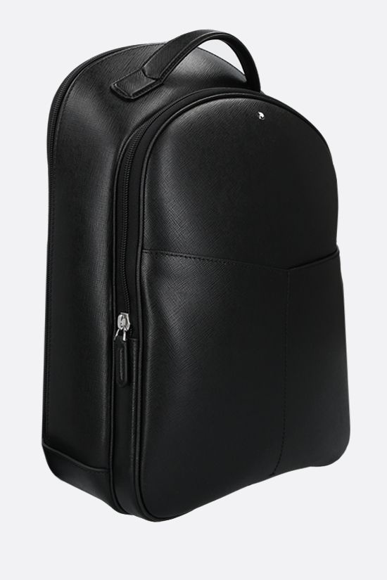MONTBLANC: Montblanc Sartorial small textured leather backpack Color Black_2