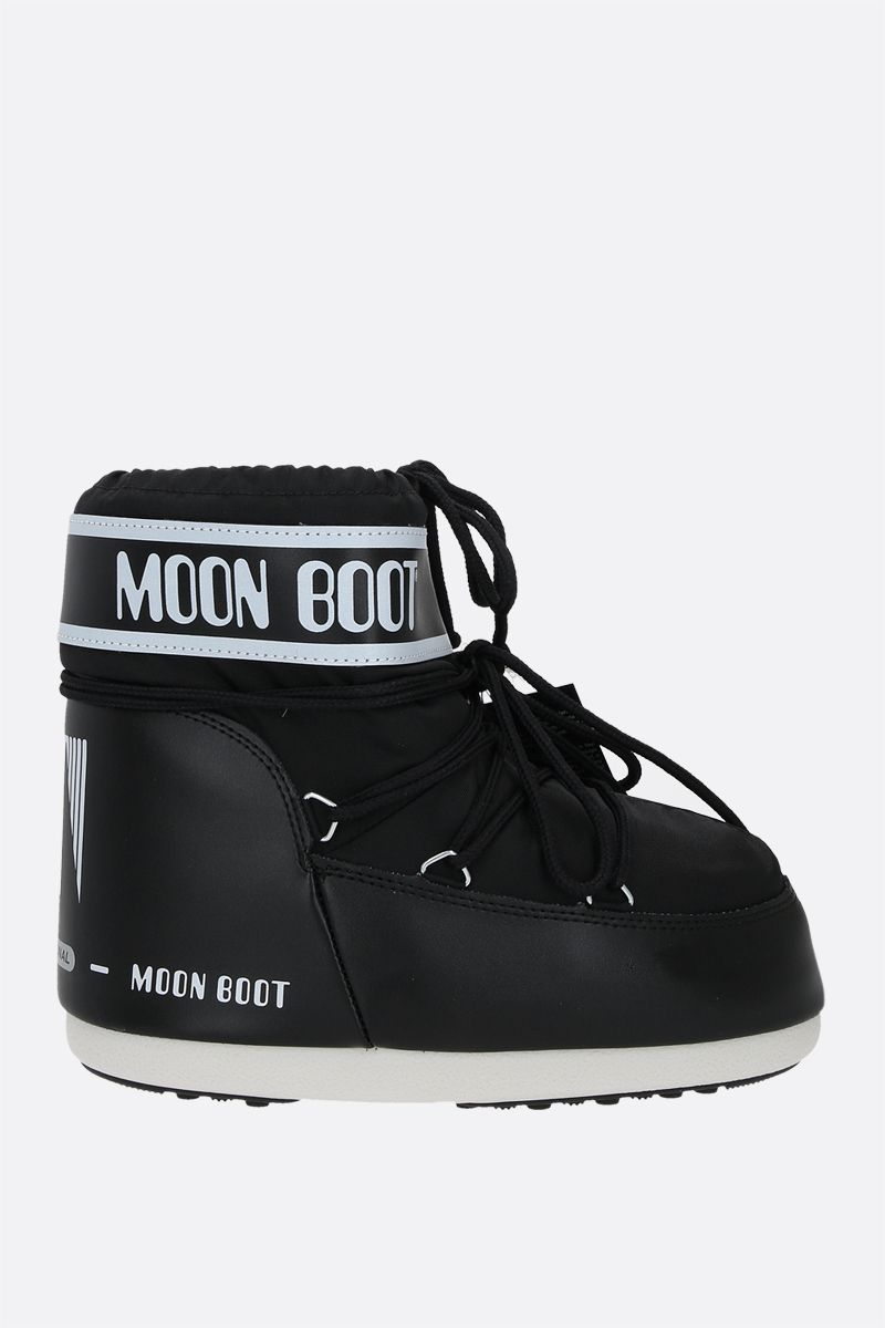MOON BOOT: Moon Boot Icon nylon low-top snow boots Color Black_1